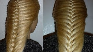 getlinkyoutube.com-Французская коса-Изящная. Причёска для средних, длинных волос.Причёски для девочек в школу