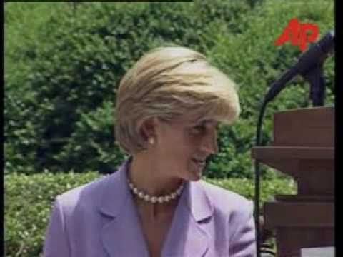Princess Diana speaks at Landmines Conference