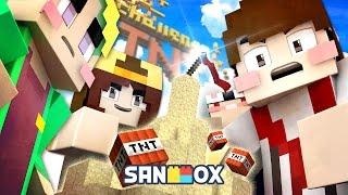 getlinkyoutube.com-학교 운동장에서 하던 추억의 게임!! [마인크래프트 TNT 챌린지: 모래성 지키기] Minecraft - TNT Challenge - [도티]