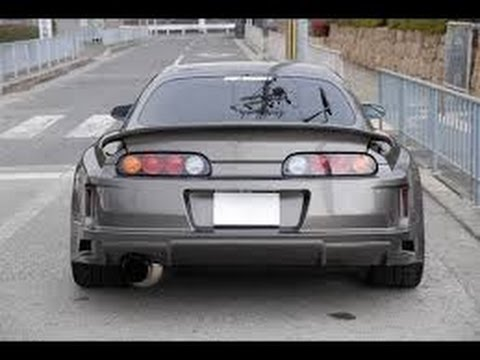 1000hp Toyota Supra burnout + exhaust sound
