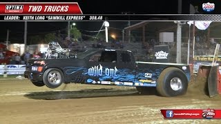 getlinkyoutube.com-PPL 2014: 2WD Trucks Pulling at Wilmington, OH