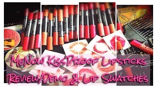 getlinkyoutube.com-ALL SHADES | MeNow KissProof Lipsticks Review/Demo & Lip Swatches | IkinMan