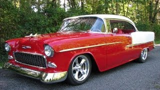 1955 Chevrolet Belair 502 BBC Hot Rod Art Morrison Chassis Walk Around Start Run
