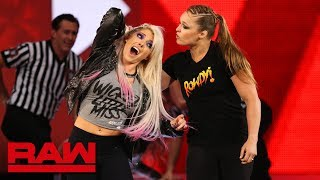 Ronda Rousey violates suspension to brutalize Alexa Bliss: Raw, July 16, 2018