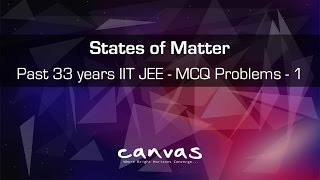 Past 33 Years IIT JEE MCQ Solved - 1 | States of Matter