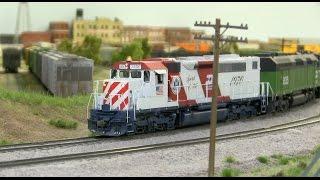 getlinkyoutube.com-BN HO Scale Model Railroad Layout Train Journey