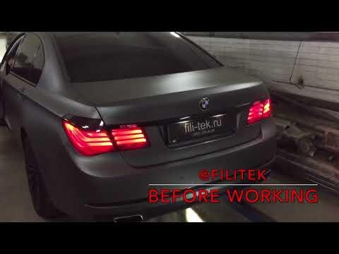 Прямоточная выхлопная система на BMW 730 в кузове F01