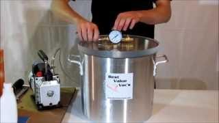 getlinkyoutube.com-Best Value Vacs 5 Gallon Vacuum Chamber and Pump Kit