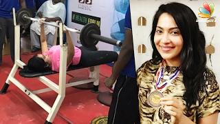 getlinkyoutube.com-Vj Ramya fought and won the bronze at State Level Powerlifting   Latest Celebrity News