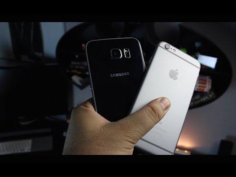 مقارنة بين جهاز iPhone 6 Vs Galaxy S6