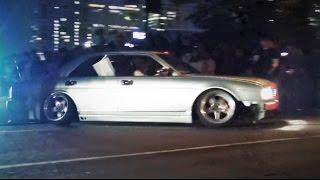 getlinkyoutube.com-【シャコタン豪快突破!!シーマ&セルシオ】 StanceNation 2015 スタンスネーションJAPAN 車高短 シャコタン Lowered Low car exhaust