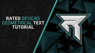 getlinkyoutube.com-How To Make 2d Geometrical Text in Photoshop By Rated Designs