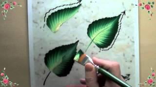 getlinkyoutube.com-Démonstration usage fiche d'entrainement à la peinture décorative