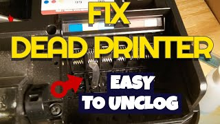 getlinkyoutube.com-Giving up on a dead printer? Try my way to unclog inkjet printer port