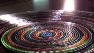 getlinkyoutube.com-World Record: Most dominoes toppled in a spiral (30,000) complete Toppling