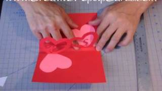 getlinkyoutube.com-Easy Valentine's Day Pop Up Card Tutorial: Linked Hearts