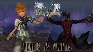 getlinkyoutube.com-Dissidia 012 [HD] ۩ #38: Ventus (Tidus DLC) vs Vanitas (Sephiroth DLC) in Keyblade Graveyard