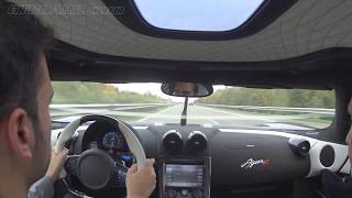 getlinkyoutube.com-Autobahn runs Koenigsegg Agera R 340+ km/h (215+ mph) casual driving towards the testtrack