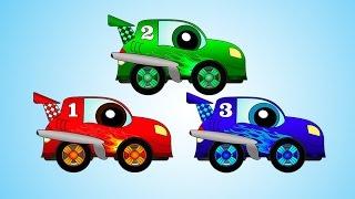getlinkyoutube.com-Мультфильмы про машинки: игры, гонки и калинка малинка - мультики для детей