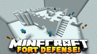 getlinkyoutube.com-Minecraft SNOW FORT DEFENSE! (20 WAVES OF ZOMBIES) w/Preston, Jerome, Choco & Kenny