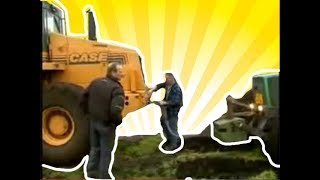 getlinkyoutube.com-Case 731F Towing Fendt Tractor [Best of Tractor stuck Videos] 2017