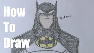 getlinkyoutube.com-How To Draw The Batman Easy Version