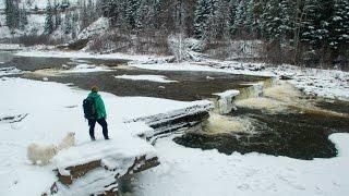 getlinkyoutube.com-Flatbed Mini Falls - Tumbler Ridge, British Columbia