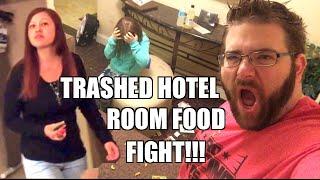 getlinkyoutube.com-TRASHED HOTEL ROOM FOOD FIGHT over TRYTREATS.COM Food Box