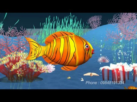 Machli jal ki rani hai  - Fish 3D Animation Hindi Nursery rhyme with Lyrics ( Hindi Poem )