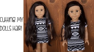 getlinkyoutube.com-CUTTING MY AMERICAN GIRL DOLLS HAIR?!