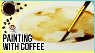 Art Challenge: Painting With Coffee ☕ | Painting The Moon | How To Paint The Moon With Coffee