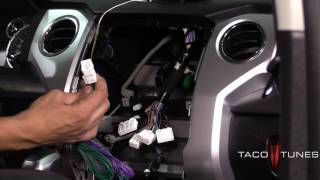 getlinkyoutube.com-Toyota add subwoofer to stock Stereo Plug and Play Harness - NON JBL