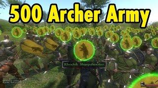 getlinkyoutube.com-500 Archer Army - Mount And Blade Warband