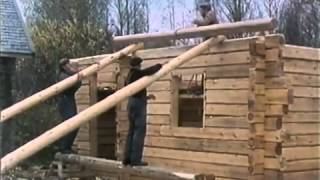 getlinkyoutube.com-Traditional Finnish Log House Building Process