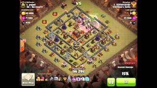 getlinkyoutube.com-Clash Of Clans - 3 Stars Maxed TH 10 - GoLavaLoon Attack