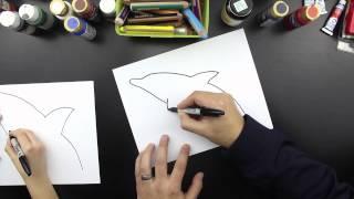 getlinkyoutube.com-How To Draw A Dolphin