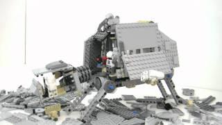 getlinkyoutube.com-AT AT WALKER Lego Star Wars Stop Motion Review Set 8129