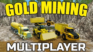 getlinkyoutube.com-FARMING SIMULATOR 2017 | GOLD MINING | WASH PLANT IS RUNNING! | VOLVO
