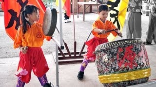 getlinkyoutube.com-LION DANCE DRUMMING - Youngest Drummer Gong and Cymbals formed by Children