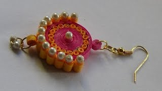 getlinkyoutube.com-Quilling Paper Jewellery Ear Ring..........Tutorial