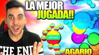 AGARIO | LA MEJOR JUGADA!! | TOP 5 EN 20 SEGUNDOS | +10000 PUNTOS | Agario | Rubinho vlc