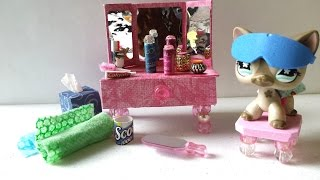 getlinkyoutube.com-How to Make an LPS Vanity and Bathroom Accessories: Doll DIY