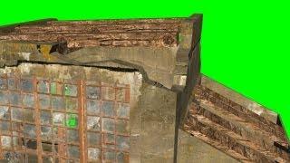 getlinkyoutube.com-war bunker ruins - different views - green screen effect