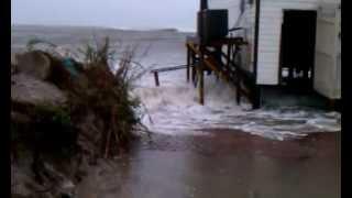 getlinkyoutube.com-North TOPSAIL Beach, NC. Hurricane Sandy, 10/28/12