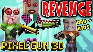 getlinkyoutube.com-Lets Play Pixel Gun w/ Dad, Daughter & Son: Revenge in the End!  Alliance Formed! (pt. 6)