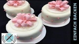 getlinkyoutube.com-Princess Cake Vanille zum selber machen - von einfachBacken