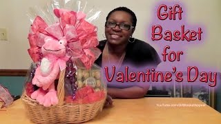 getlinkyoutube.com-DIY Valentine's Day Gift Basket | Dollar Tree | Dollar General