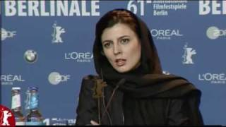 Leila Hatami speaking German - Conference Press -  Berlin Film Festival 2011 width=