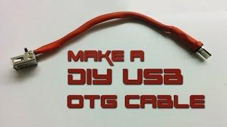 "getlinkyoutube.com-How to make USB OTG ""On-The-Go"" cable"