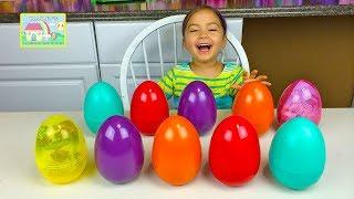 getlinkyoutube.com-SURPRISE EGGS MATCHING CHALLENGE GAME Surprise Toys SpongeBob Minions + Learn Colors + Kid-Friendly